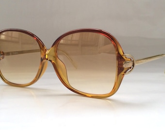 SALE 60% OFF 80s Vintage Austrian Made COBRA Optyl Small Honey Brown Ladies Child Sunglasses