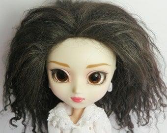 Pullip Wig Dark Brown Tibetan lamb lambskin mohair Doll hair