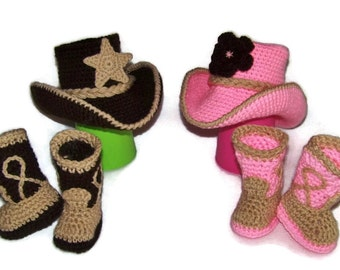 Baby Cowboy Boots - Cowboy - Twins 1st Birthday Outfit - Newborn Twin Outfits - Twins Baby Shower - Twins Cowboy Set - Twins Baby Clothes