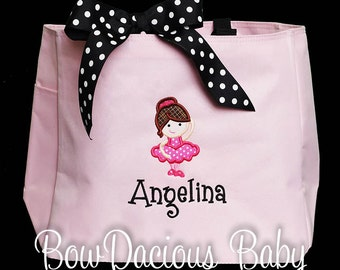 Dance Bag, Ballerina Bag, Custom Dance Bag, Girls Dance Bag, Ballet Bag, Monogrammed Dance Bag, Monogrammed Bag, Birthday Gift, Custom