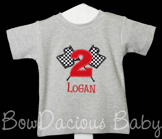 Checkered Flag Birthday Shirt Race Car Birthday By