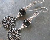 Higher Power ~ Black Onyx earrings - Bohemian style jewelry