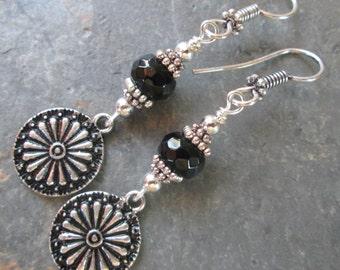 Black Onyx Earrings - Bohemian Style Jewelry