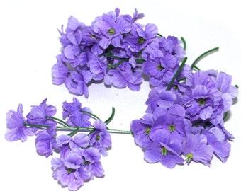 50 Lavender Blossoms - Artificial Flowers, Silk Flower Blossoms - PRE-ORDER