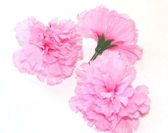 3 Pink Bargain Carnations