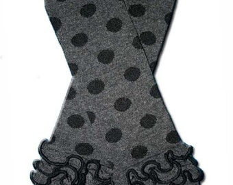Sale and Ready to ship Grey and black ruffled Leg Warmers baby toddler girls ruffles dots Spring Summer