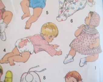 Infant Clothes Pattern, Size 6 Months, 1980