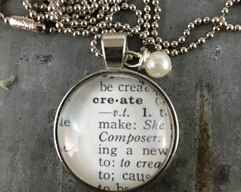 Dictionary Word Necklace - Create