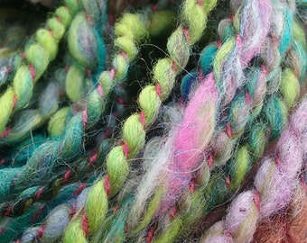 "Colorway ""Disarm"" Bulky Handspun Art Yarn 2 Ply"