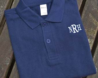 Monogrammed Polo for Boys - Navy Blue