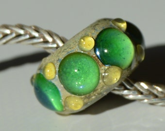 Handmade Lampwork Glass European Charm Bead - SRA - Coring Options - Fits all charm bracelets