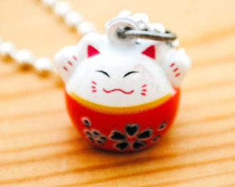 Jingle Cat Necklace - Lucky Cat - Cat Lady Necklace
