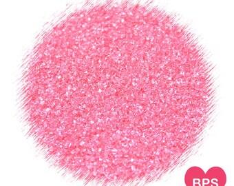 Coral Sanding Sugar, Coral Sprinkles, Coral Glitter Sugar, Cockail Rimming Sugar, Coral Wedding Sprinkles, Cake Pop Sugar, Edible Sprinkles