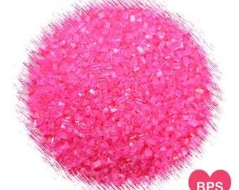 Bright Pink Sparkling Sugar, Hot Pink Sprinkles, Valentine's Day Sprinkles, Pink Party Sprinkles, Edible Sprinkles, Cookie Sprinkles