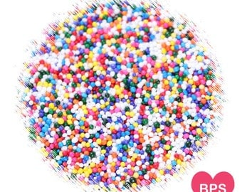 Rainbow Nonpareil Sprinkles, Rainbow Sprinkles, Rainbow Nonpareils, Christmas Cookie Sprinkles, Rainbow 100's & 1,000's, Edible Sprinkles