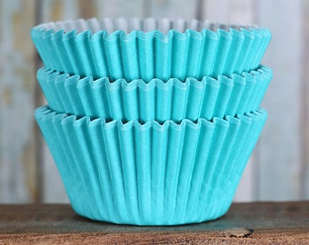 Aqua Cupcake Liners, BakeBright Cupcake Liners, Cupcake Liners, Aqua Baking Cups, Cupcake Cases, Cupcake Wrappers (50)