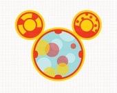Disney Inspired Mickey Mouse Toodle Digital CLIP ARTS personal and commercial use for invitations, cupcake toppers, cards, party supplies