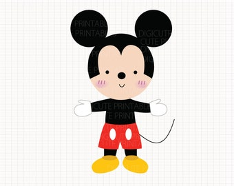 Disney Inspired Mickey Mouse Digital CLIP ARTS personal and commercial use for invitations, cupcake toppers, cards, party supplies