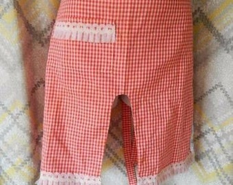 Vintage Bloomer Apron With Lace Trim