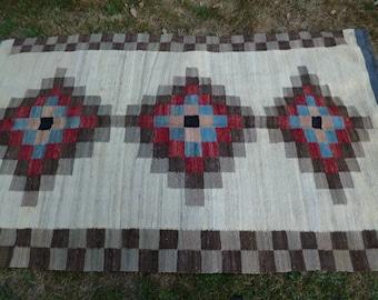 """Natural Chobi Kilim  Runner  6 ft 8"""" x 4 ft. 203 x 122 cm Hand woven."""