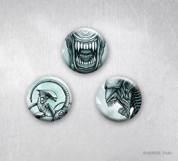 Aliens Movie Art Pins