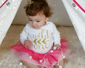 Wild One Gold Glitter Iron-On- LETTERING ONLY brithday party onesie