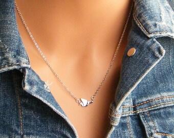 Origami Bird Necklace, Crane Necklace, Origami Necklace, Minimalist Jewelry, Bridesmaids Gift