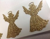 Beautiful Golden Angel Stickers  12 pc Card Stickers