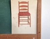 Vintage School Flashcard- Chair