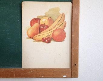 Vintage School Flashcard- Fruit