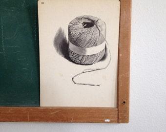 Vintage School Flashcard- String