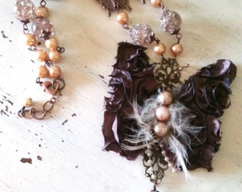 Fancy Flight Butterfly Statement Necklace