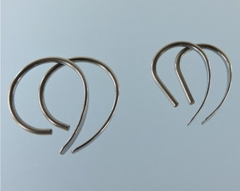 16 gauge niobium earrings: Apostrophe set of 2 pairs