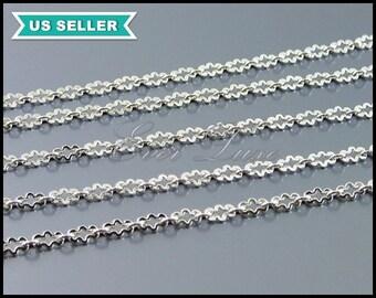 1 meter unique cloud shape link chains, silver delicate chain, designer style chains, necklace / bracelet chain B094-BR