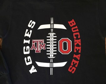 Two football team long sleeve t shirt