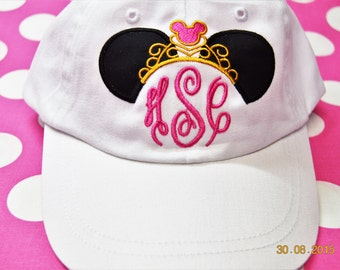 YOUTH Minnie Mouse Princess Crown Hat- Monogrammed