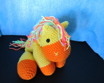 Crochet Yellow Pony