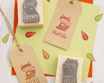 Personalised Children's Fox Rubber Stamp - Personalized Stamp - Personalized Gift - Custom Rubber Stamp - Fox Gift - Gift for fox lover