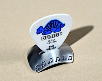 Aluminum guitar pick stand for the serious musician - Can also be Custom and Personalized - GPS643