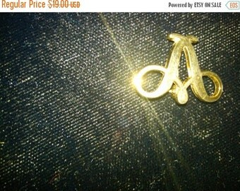 Brooch-Scrolled Letter A-Vintage  CLEARANCE SALES