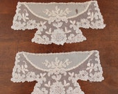 Pair of Vintage Ecru Sheer Lace Cuffs