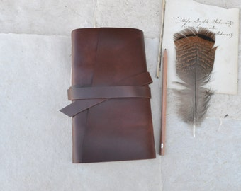 Slim Rustic Leather Sketchbook