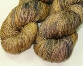 Golden Cosmography - Guinevere Lace Silk/BFL yarn - 100g