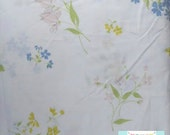Twin Vintage Fitted Sheet with Pastel Flowers
