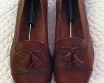 Bostonian Florentine Cordovan Kiltie Loafers Shoes Made in Italy 10.5 Men