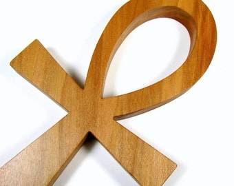 Ankh Cross / Egyptian Symbol / Life / LARGE / Red Sycamore Wood
