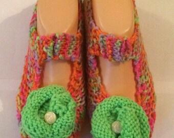 Slipper Socks  - Rainbow Bright