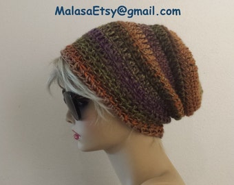 SLOUCHY BEANIE HAT, Gift Fall Winter Hat, Slouchy Hat, Beanie Hat, Chemo Hat, Travel Hat, Fashion Hat, Cozy Slouchy Hat, Beret Hat, Gift Hat