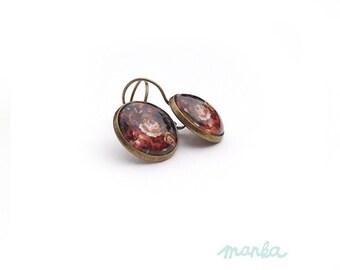 Rose garden earring