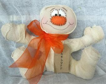 Handmade Fabric Halloween Mummy | Mummy Doll | Primitive Mummy | Halloween Decor